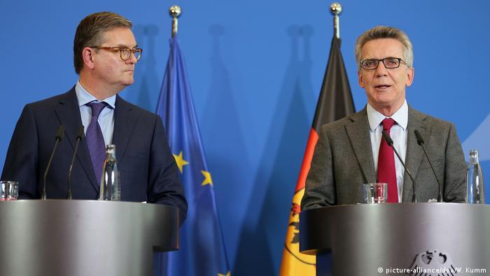 Deutschland | Pressekonferenz IM de Maizière und EU-Kommissar King