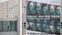 This is what we share poster at Frankfurt Book Fair (picture-alliance/dpa/A. Dedert)