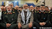 Titel: Naghadi Bassij Iran Pasdaran Mohammad Reza Naghadi, Oberkommandant der paramilitärischen Einheiten Bassij , unterstellt den Revolutionswächtern (Sepah Pasdaran) Quelle: khameinei.ir