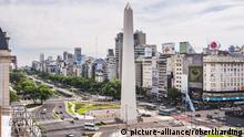 Avenida 9 de Julio en Buenos Aires.