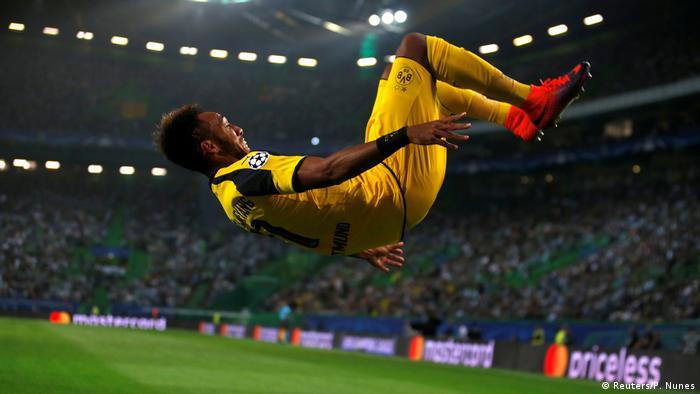 Champions League Sporting Lissabon vs. Borussia Dortmund - Jubel Aubameyang