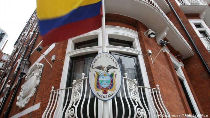 Großbritannien Botschaft von Ecuador in London (Getty Images/AFP/D. Leal-Olivas)