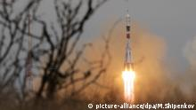 The Soyuz MS-02 launch Raketenstart Sojus