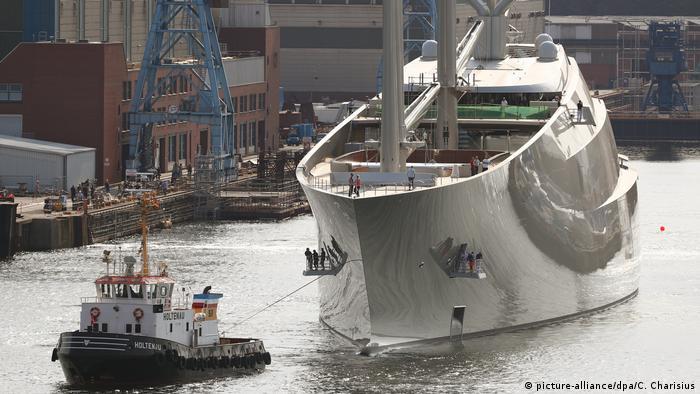 Kiel größte Segel-Yacht der Welt (picture-alliance/dpa/C. Charisius)
