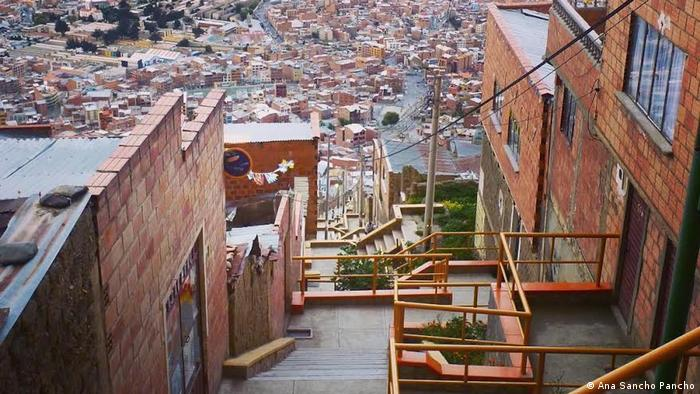Bolivien Projekt Habitat Treppe La Paz (Ana Sancho Pancho)