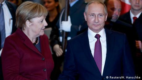 Por primera vez en cuatro años, la canciller alemana Angela Merkel recibió al presidente ruso, Vladimir Putin, en Berlín, en busca de lograr avances en la crisis en Siria y el conflicto en Ucrania.(19.10.2016)