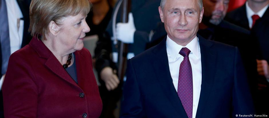 Merkel recebe Putin em Berlim