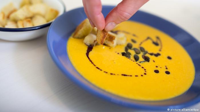 Pitadas: Sopa de abóbora com laranja e gengibre
