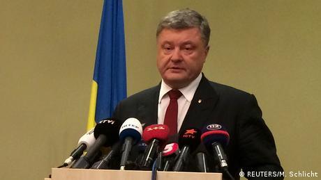 Deutschland | Pressekonferenz Statement Petro Poroshenko (REUTERS/M. Schlicht)