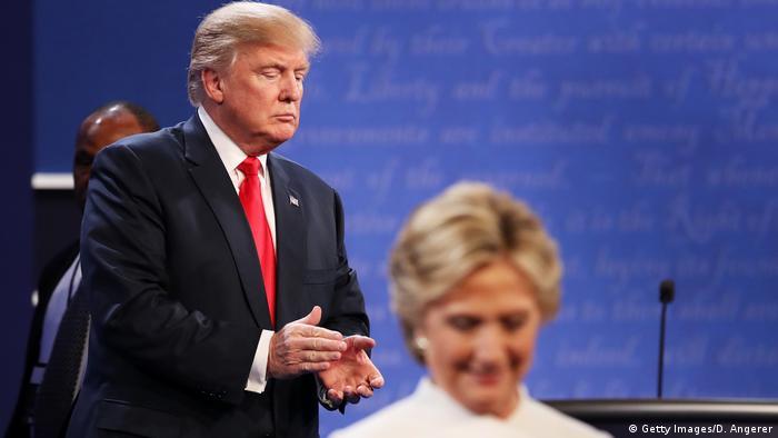 USA   Ende der 3. Präsidentschaftsdebatte 2016 in Las Vegas (Getty Images/D. Angerer)