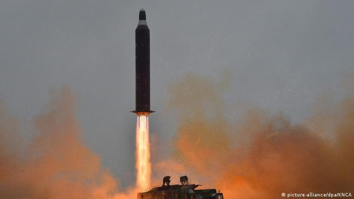 North Korea failed ballistic missile launch (picture-alliance/dpa/KNCA)