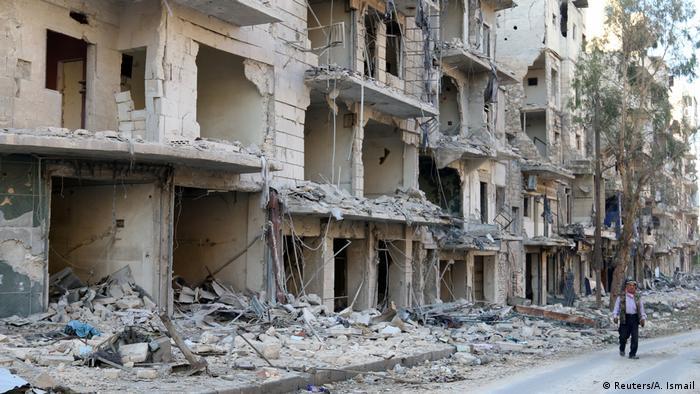 Syrien Aleppo zerstörte Gebäude