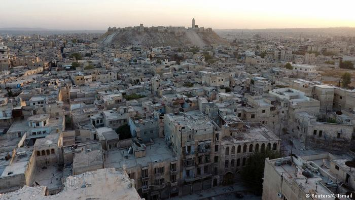 A general view taken with a drone shows Aleppo's historic citadel (Reuters/A. Ismail)