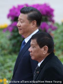China Peking Staatsbesuch Duterte Präsident Philippinen (picture-alliance/dpa/How Hwee Young)