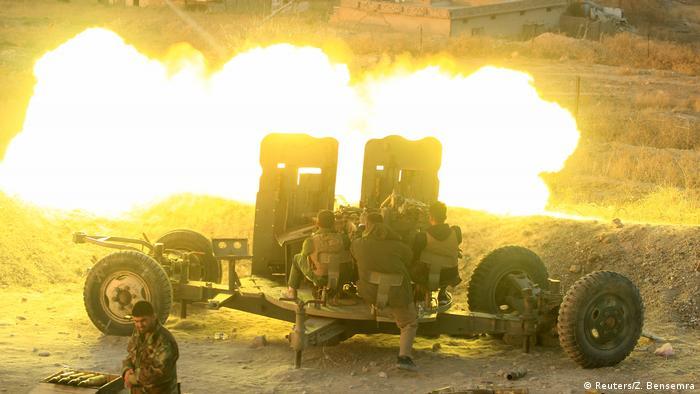Irak Mossul Peschmerga bei Offensive (Reuters/Z. Bensemra)