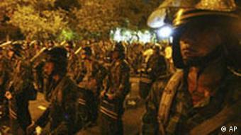 Thailand Soldaten nach Unruhen