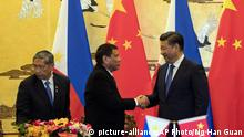 China Peking Staatsbesuch Duterte Philippinen