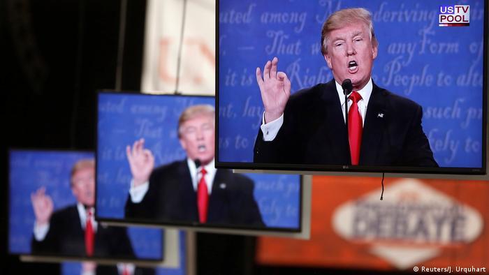 USA TV Debatte Donald Trump Bildschirme