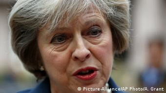 Die britische Premierministerin Theresa May (Picture-Alliance/AP Photo/A. Grant)
