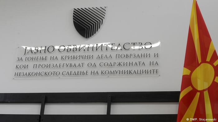 Mazedonien Press Sonderstaatsanwaltschaft in Skopje