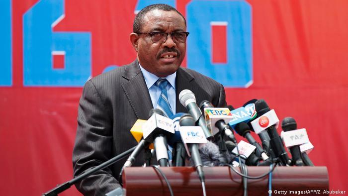 Hailemariam Desalegn bei einer Rede (Archivbild)