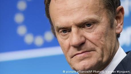 Belgien | Donald Tusk auf dem EU-Gipfel in Brüssel (picture-alliance/AP Photo/G. Vanden Wijngaert)