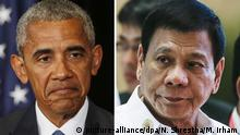 Kombobild Obama Duterte