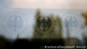 Logo of the German Federal Intelligence Agency (picture-alliance/dpa/F. Bensch)