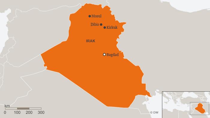 DW-Karte des Irak