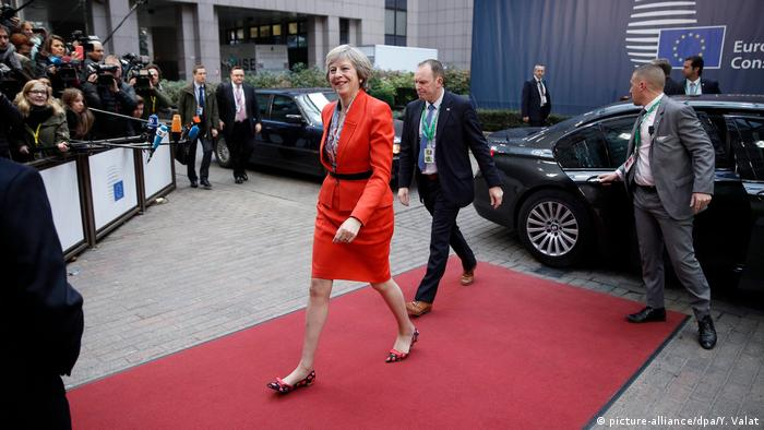 EU Gupfeltreffen in Brüssel Theresa May (picture-alliance/dpa/Y. Valat)