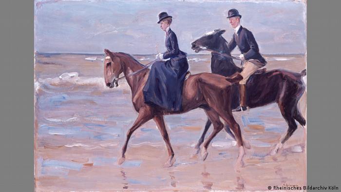 Всадница и всадник на пляже (1903)