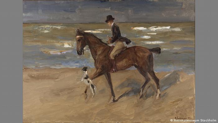 Всадник на берегу с фокстерьером (1911)