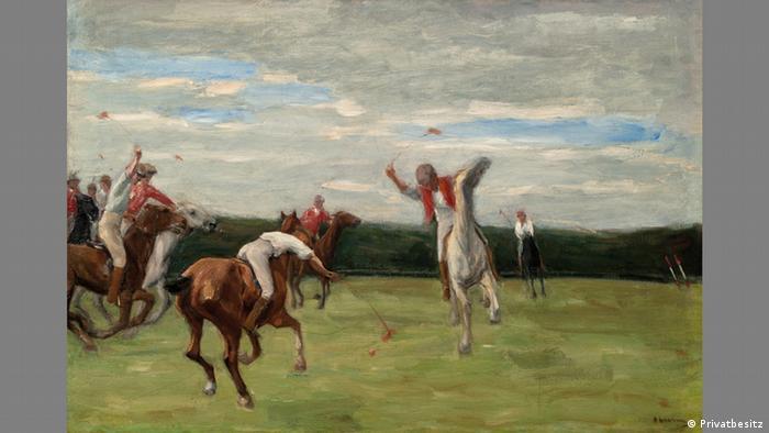 Игроки в поло в Йенском парке (1903)