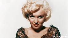 Marilyn Monroe wearing black lace negligee c. 1 AD00245952 PUBLICATIONxINxGERxSUIxAUTxONLY