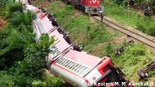 21.10.2016+++Eseka, KamerunA derailed train is seen in Eseka, Cameroon, October 21, 2016. REUTERS/Mahamat Mazou Aboubakar FOR EDITORIAL USE ONLY. NO RESALES. NO ARCHIVES. TPX IMAGES OF THE DAY
