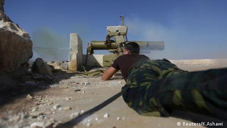Syrien Aleppo Rebellen Kämpfer (Reuters/K.Ashawi )