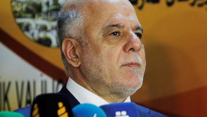 Irak Premierminister Haider Al-Abadi in Kirkuk