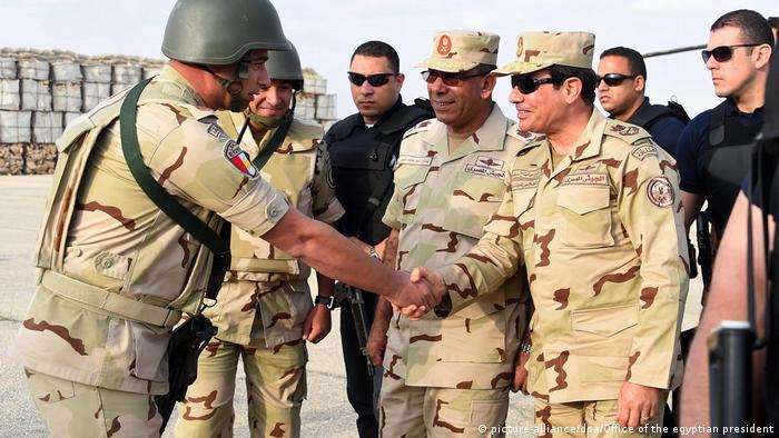 Ägypten Präsident General al-Sisi im Norden von Sinai