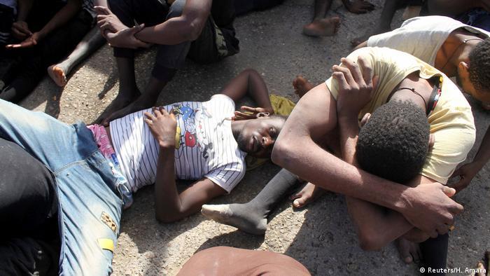 Libyen Tripolis Gerettete Migranten (Reuters/H. Amara)