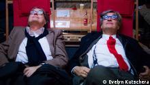 Der verstorbene Festivalchef Heinz Badewitz und Wim Wenders bei den Hofer Filmtagen