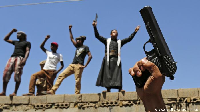 Jemen Sanaa Anti Saudi Proteste (picture-alliance/dpa/Y. Arhab)