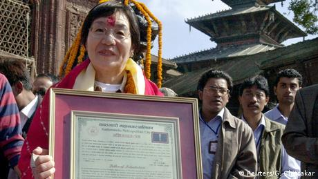 Junko Tabei en Nepal (Reuters/G. Chitrakar)