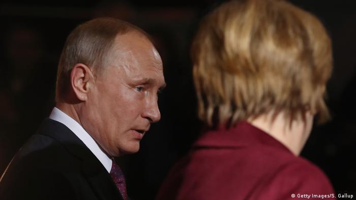 Putin and Merkel in Berlin