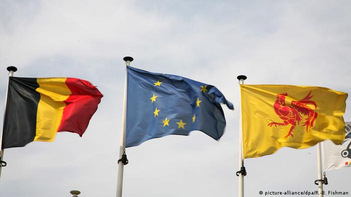 Belgien - Wallonien - Flagge (picture-alliance/dpa/R.-B. Fishman)