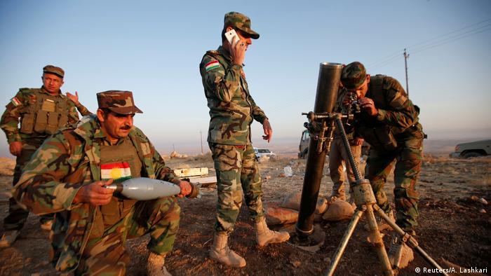 Kurdish peshmerga forces near Mosul