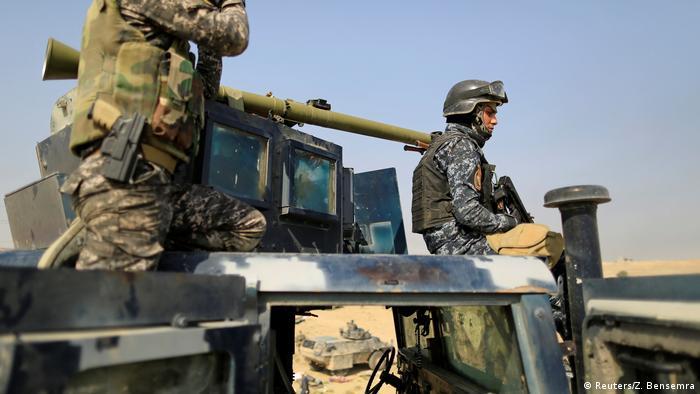 Irak Armee auf dem Weg nach Mossul (Reuters/Z. Bensemra)