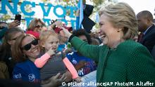 USA North Carolina Raleigh Wahlkampf Präsidentenwahl Hillary Clinton