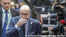 Oct. 21, 2016 Belgian Prime Minister Charles Michel arrives on the second day of the EU summit in Brussels, Friday, Oct. 21, 2016. (AP Photo/Olivier Matthys) |