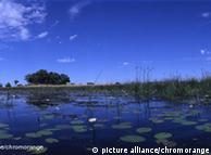 Delta do rio Okavango: integrado ao parque Kaza