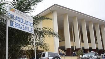 Une vue du bâtiment abritant le palais de justice de Brazzaville